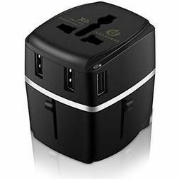 BONAZZA Universal World Travel Adapter Kit W/4 USB Ports - U