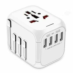 Upgraded Travel Adapter, All-in-one International Power New