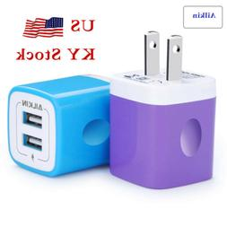 Ailkin US Plug Dual Port USB Plug Power Adapter 2.1A/5V Trav