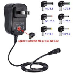 US Plug 12W Universal Power Adapter Plug Multi Voltage 3V 4.