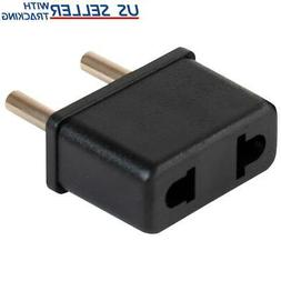 US USA to EU Euro Europe Power Jack Wall Plug Converter Tra