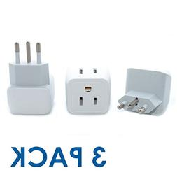 Ceptics USA to Brazil Travel Adapter Plug - Type N  - Dual I