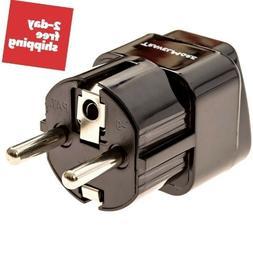 Electrical Power Plugs USA to EU American European Travel Ad