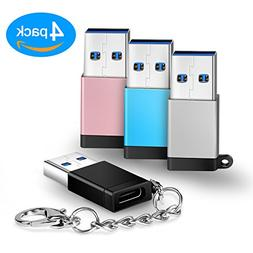 IPEAK USB to USB Type C Adapters with Keychain, USB A Male t