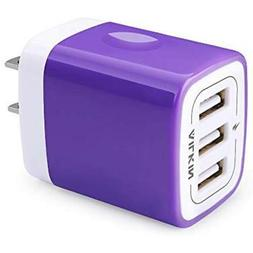 USB Charger Adapter, Ailkin 3.1A 3-Port Powerful Universal H