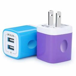 USB Charger Cube, Wall Charger Plug, Ailkin 2.1A Dual Port U