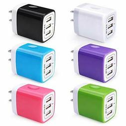 USB Charger Cube, Wall Charger Plug, Ailkin 3.1A 3-Muti Port