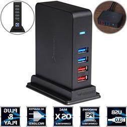 Sabrent 7 Port USB 2.0 HUB + 2 Charging Ports w/ 12V/4A Powe
