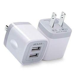 USB Plug, Wall Charger, AILKIN 2.1A Power Wall Home Fast Cha