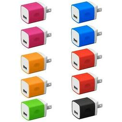 V-8 Wall Plugs 10-Pack, 5W USB Single Port Wall Charger Powe