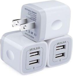 Wall Charger,  5V/2.1AMP Ailkin 2-Port USB  Travel Plug Powe