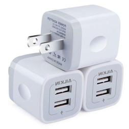 Ailkin Wall Charger,  5V/2.1AMP 2-Port USB Plug Power Adapte