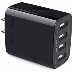 Wall Charger, USB Adapter, Ailkin 4.8A 4Multi Port Fast Char