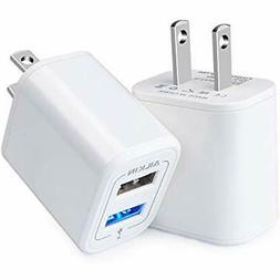 Wall Chargers USB Charging Block, Ailkin Dual Port Charger,